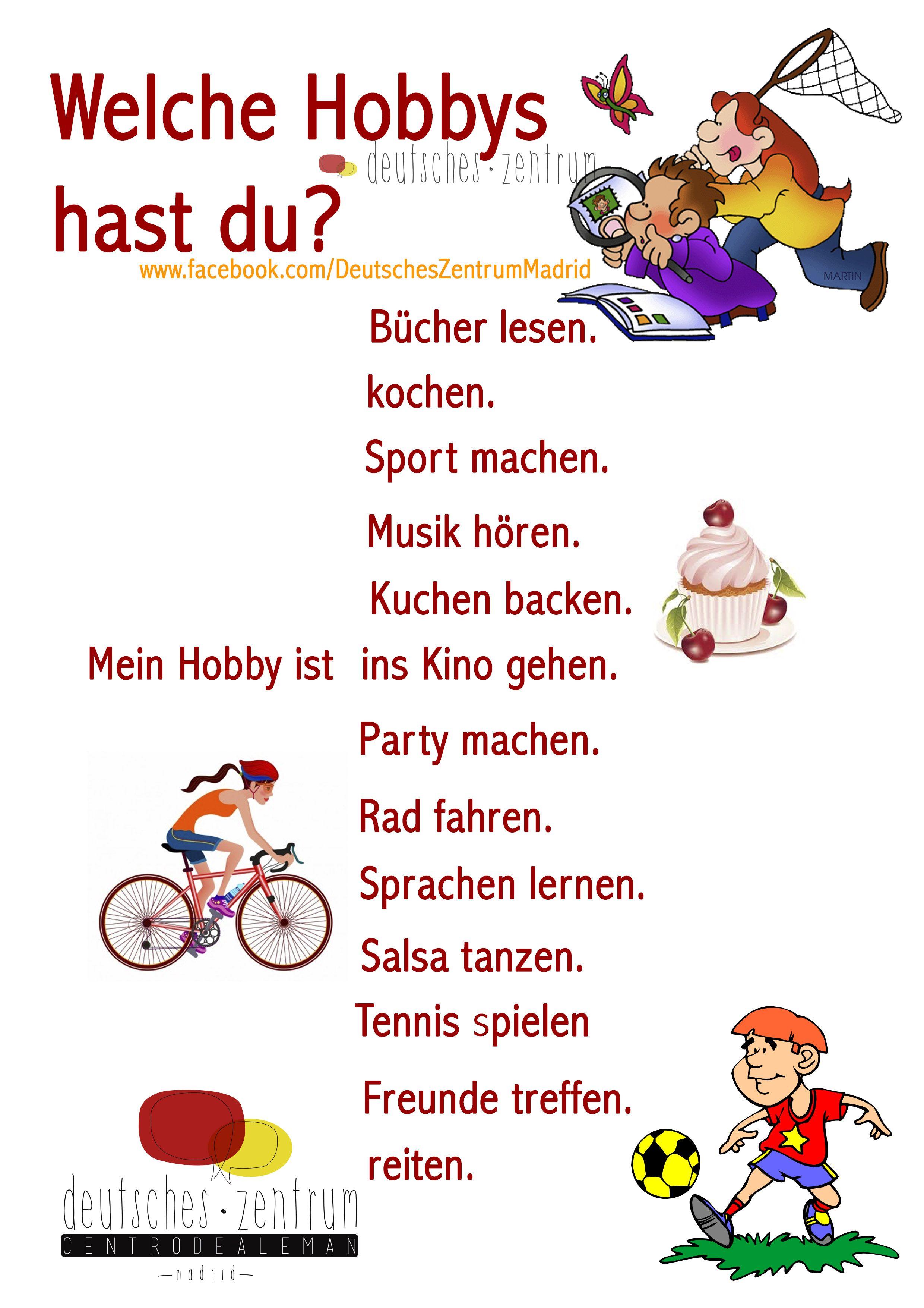 Hobbys Deutsch Wortschatz Grammatik Alemán Vocabulario