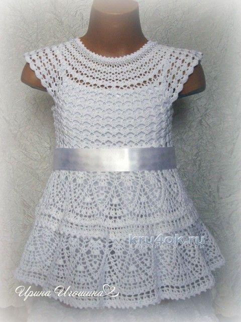 платье снежинка работа ирины игошиной вязание и схемы вязания