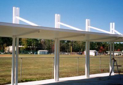 High School Solar III Walkway Canopy By Austin American Awning .