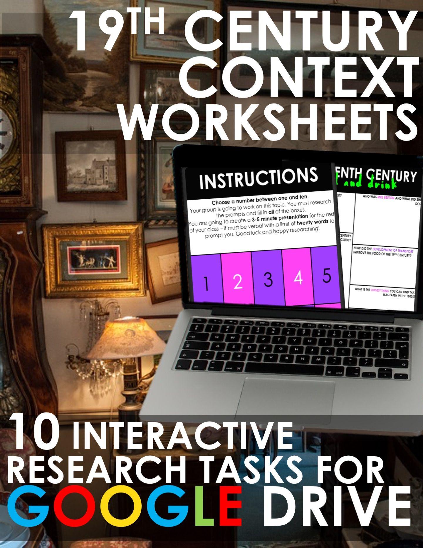 Nineteenth Century Worksheets For Drive Rigorous