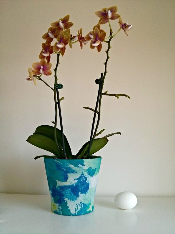 Handmade fabric covered plant pot by iguanalicious on Etsy, $29.95