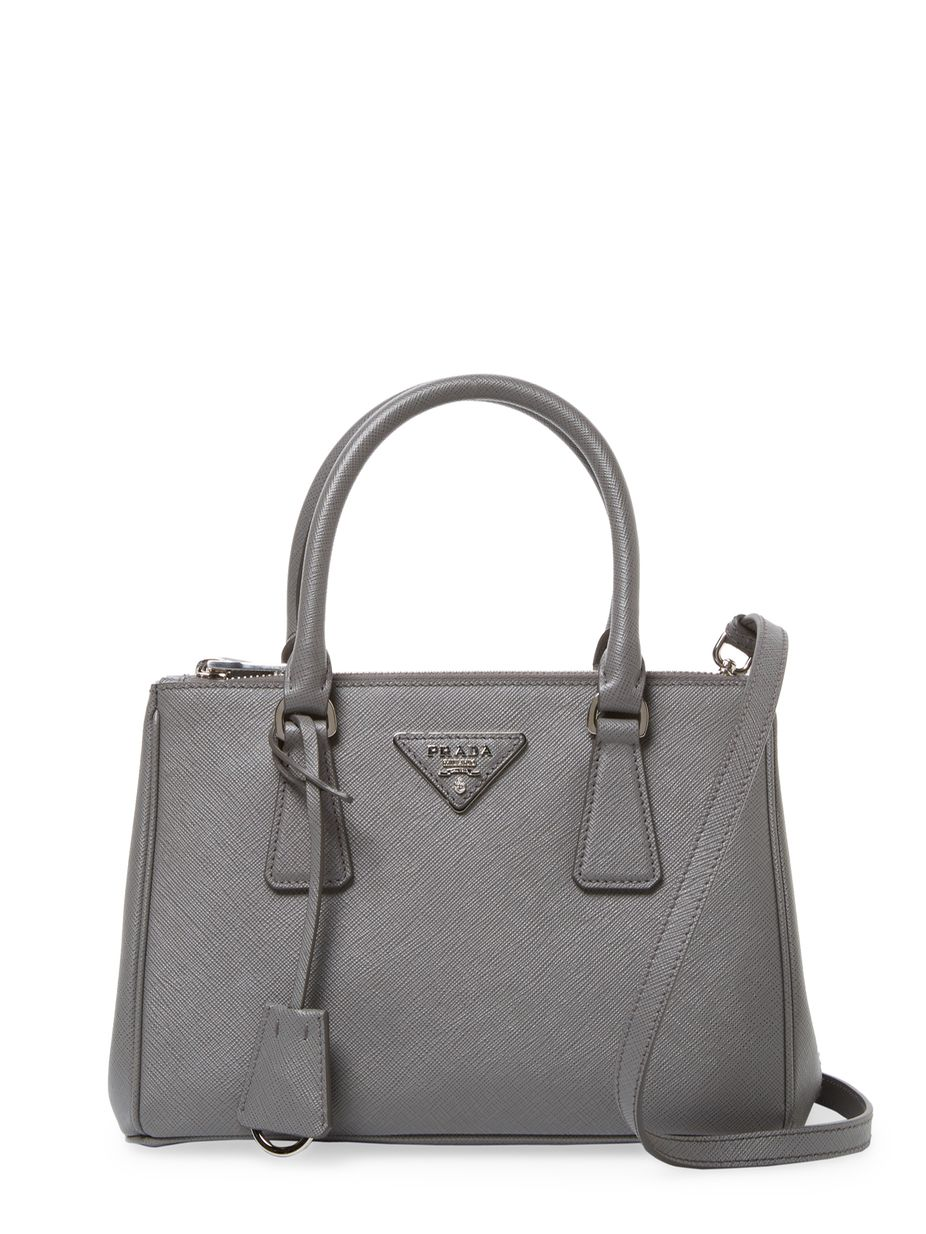 c7cd4d34b856 Prada Galleria Double Zip Mini Saffiano Leather Tote | fashion style ...