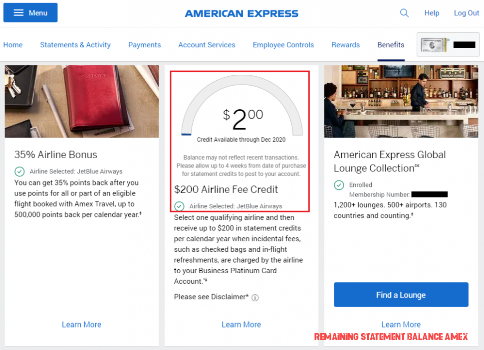 The Story Of Remaining Statement Balance Amex Has Just