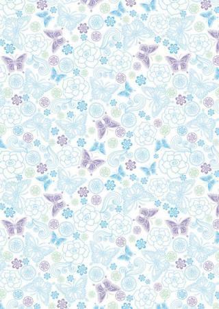 Blue and Lilac Butterflies Scrapbook Paper PAPEL DECORATIVO