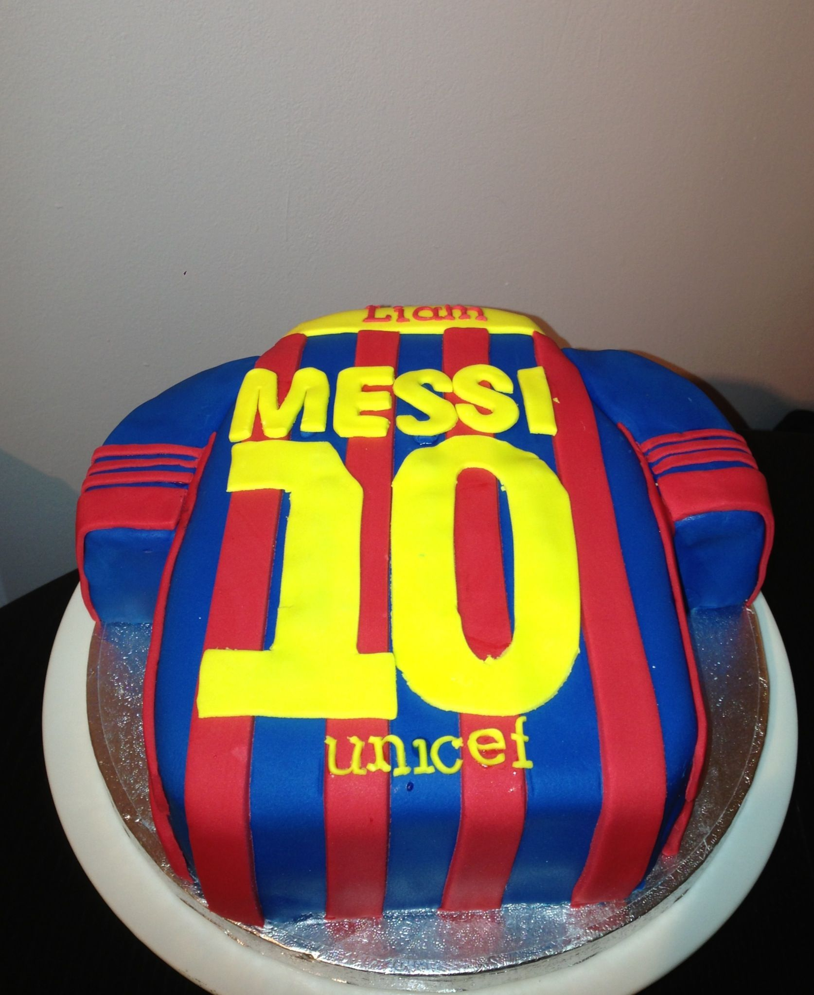 Messi Soccer Birthday Cake