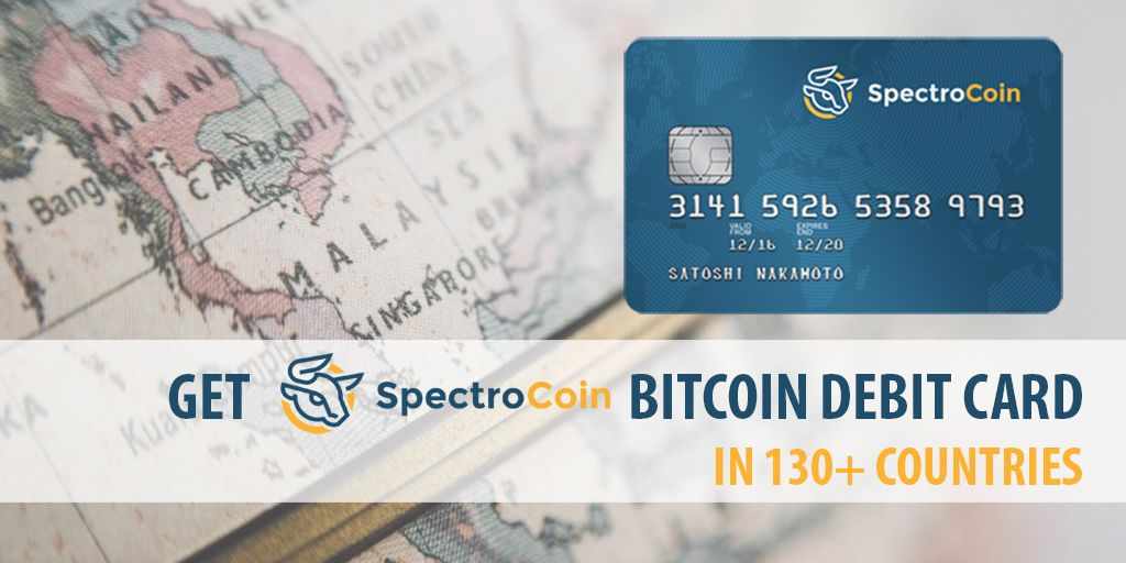 Did you know that you can order SpectroCoin Bitcoin debit