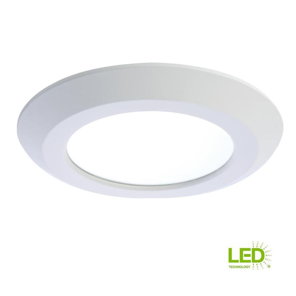 Halo 6 In White Integrated Led Recessed Trim Downlight 80 Cri 3000k Cct Downlights Recessed Lighting Trim Can Lights