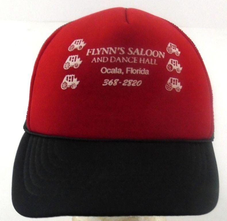 Flynn s Saloon Dance Hall Snapback Foam Mesh Trucker Hat Cap Ocala FL Red  Black… 3dd69cd6dd3a