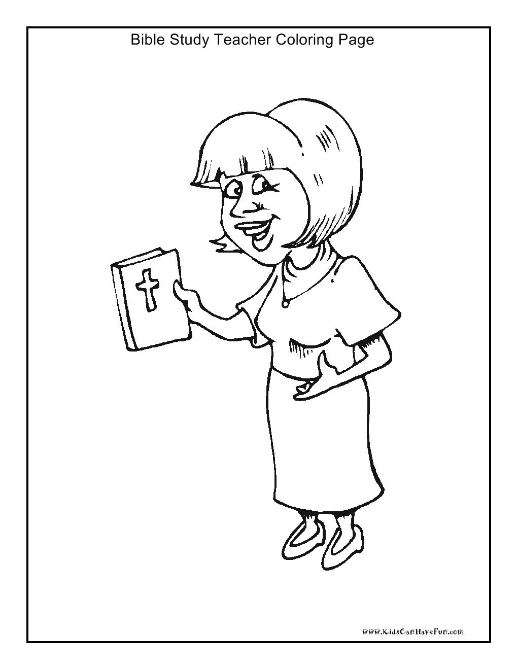 Bible study teacher coloring page http://www.kidscanhavefun.com ...