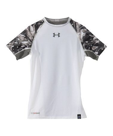 White NFL Combine Authentic Shatter Short Sleeve Top - Boys by Under Armour®  on  zulily 57167ee51