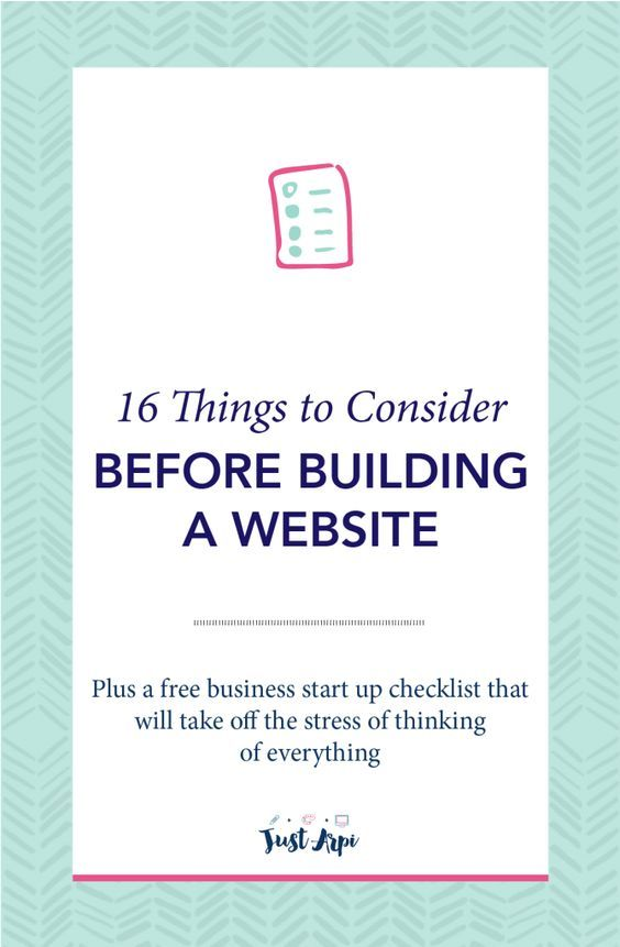 16 Things to Consider Before building a Website Website and Business