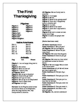 """This script was written for Kindergarten. The Thanksgiving script features a simple story with lots of repetition. The folk tale about the """"Giant Turnip"""" has been added to the story to lengthen it. The script is saved as a Word document and can be changed and personalized to adapt to any classroom situation. Using the """"find and replace"""" commands, teachers can import the names of their students into the script in mere minutes."""