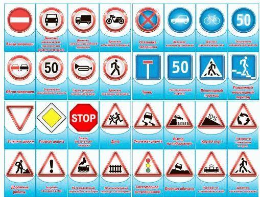 Скачать картинки знаки дорожного движения | Знаки ...