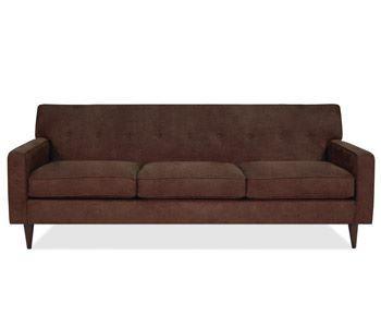 Chocolate sofa.