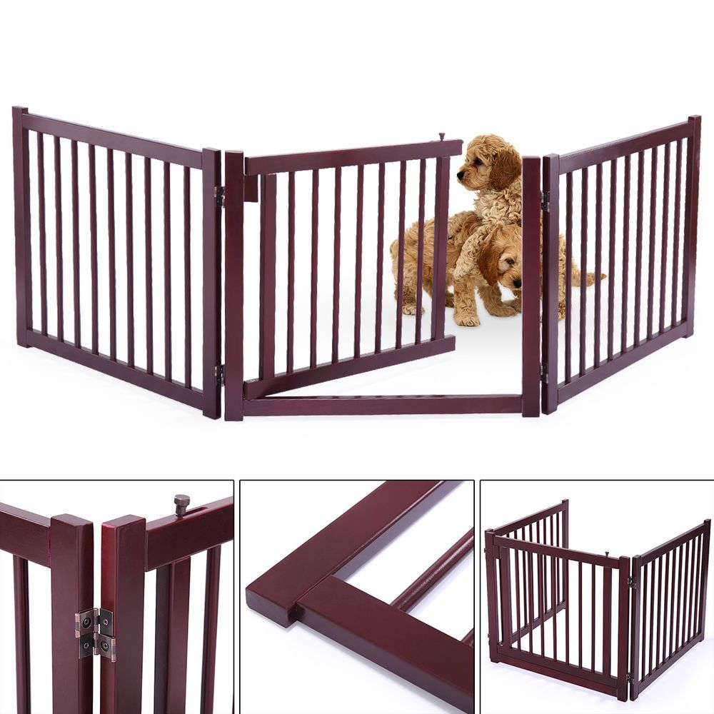 1 x Wooden Fence. This Pet Gate is made with wood and a
