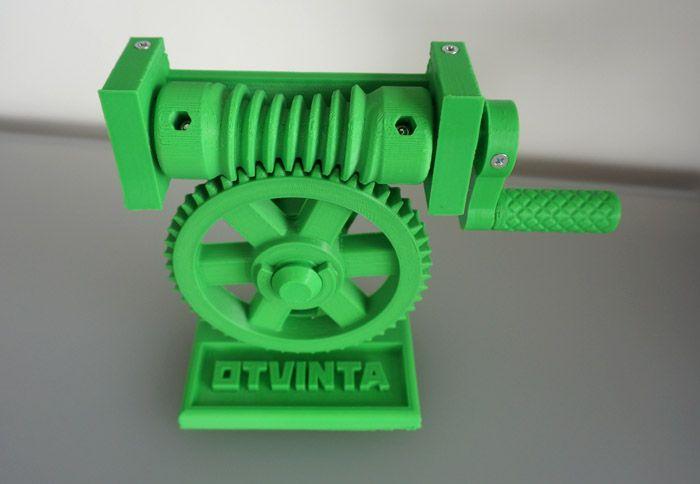 3D Model 01 3DPrintable Globoid Worm Drive Model, .STL