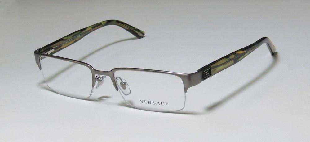 c732e5ceb75 New Versace ve 1184 VE1184 1319 Silver Green Eyeglasses 53mm