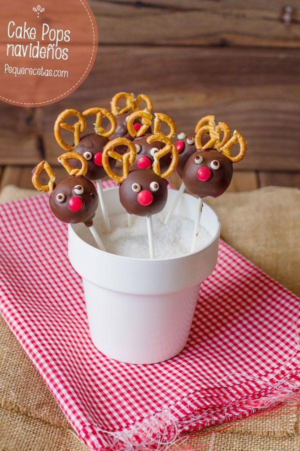 recetas de navidad para nios cake pops de renos