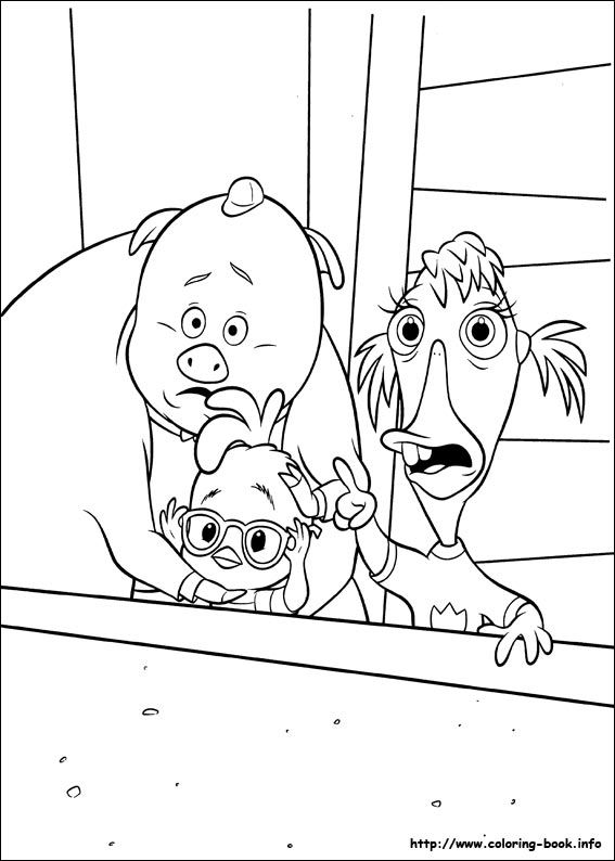 Chicken Little coloring picture Disney Chicken Little Coloring