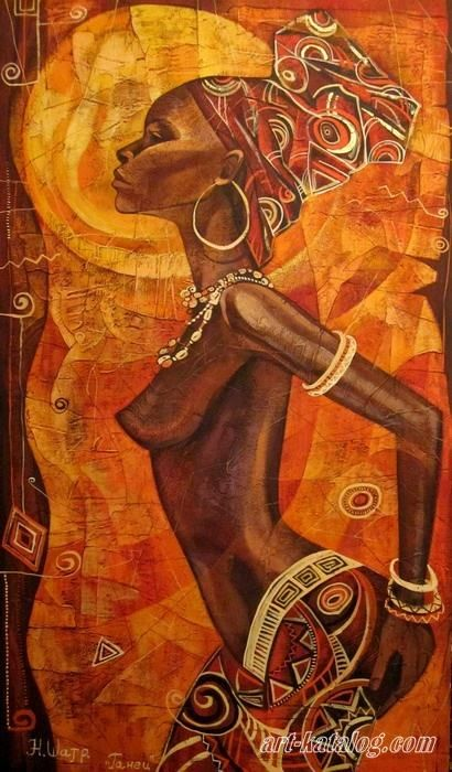 gallery for African Culture, contemporary art daily, paintings for sale, tribalart #oilpainting