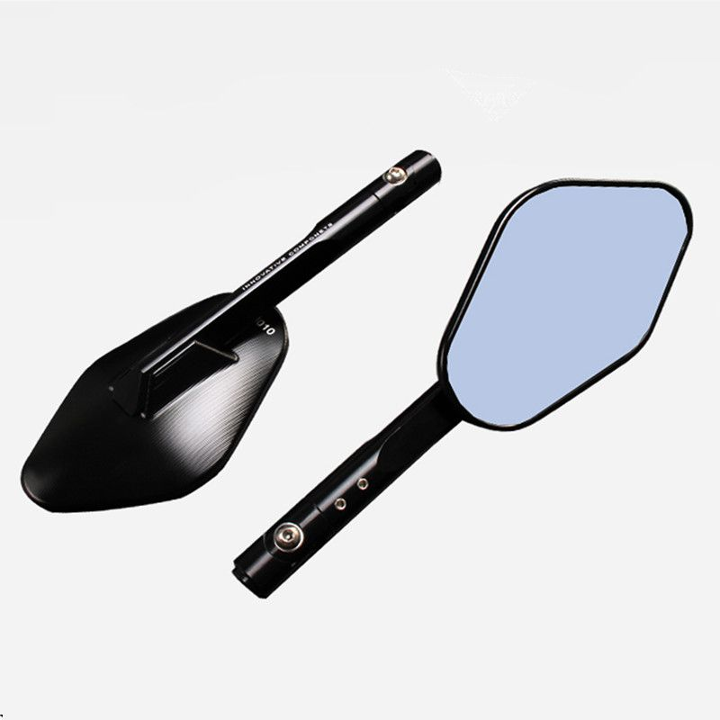 2x Blue Rearview Side Mirrors Motorcycle Dirt bike Scooter Offroad Cafe Racer
