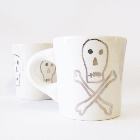 Silver pirate mug. Yes please!