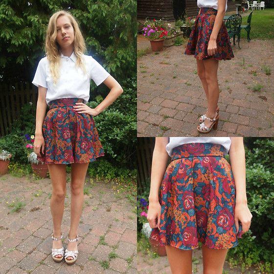 mini skirt in Real homemade wife