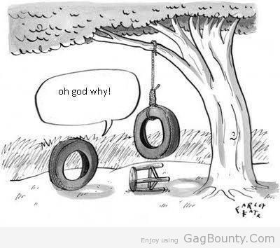 Tire Swing humor. This made me giggle