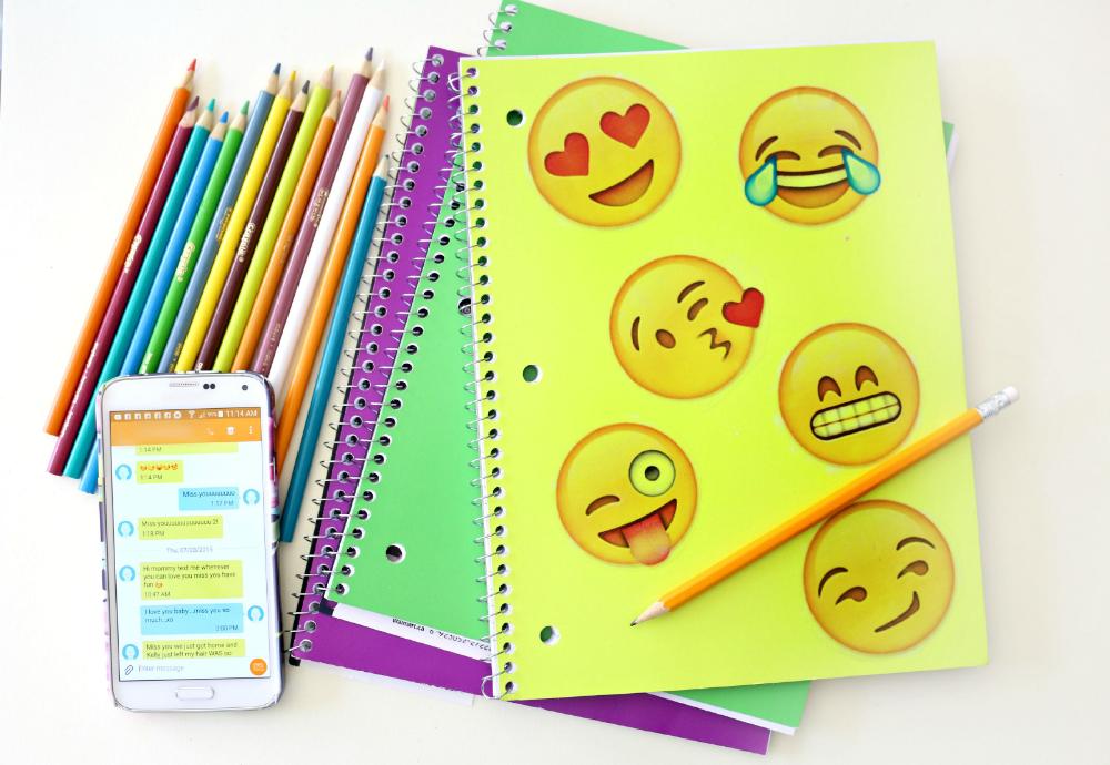 Emoji Inspired Notebook Diy Emoji School Supplies Diy Notebook Cool School Supplies