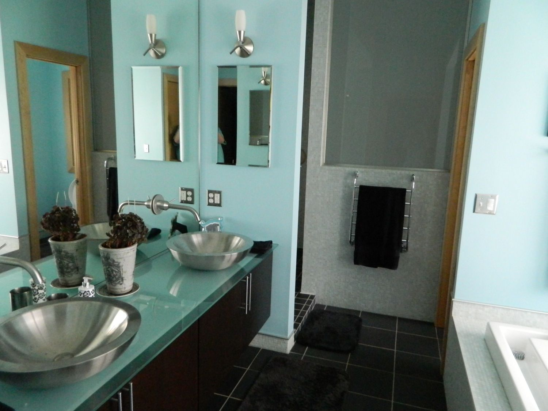 Glass-topped vanity | Design - Powder Bath | Pinterest | Vanities ...