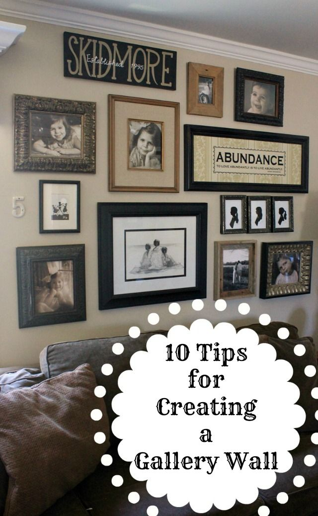 How to Create a Gallery Wall   DIY Ideas   Pinterest ...