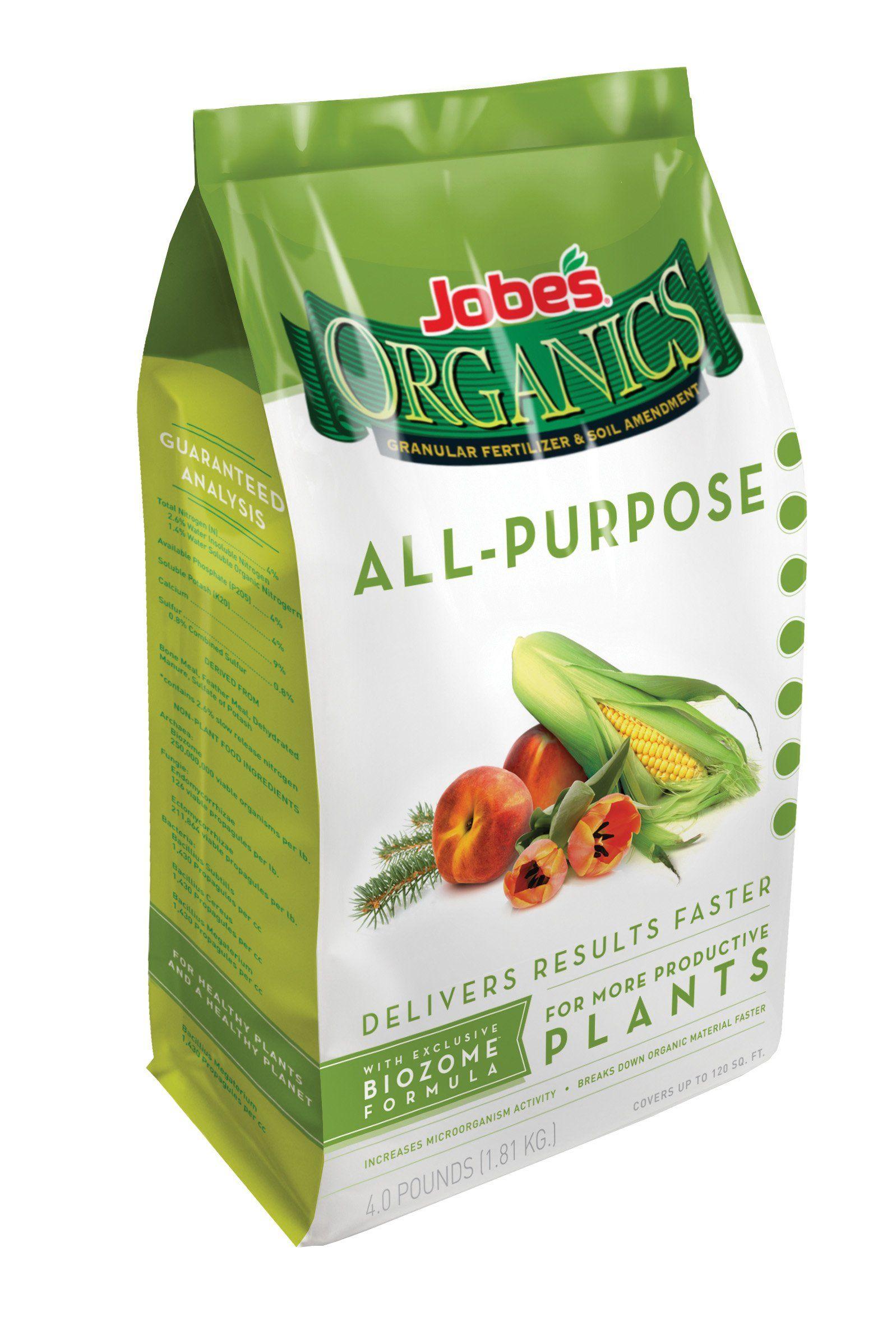 Amazoncom Jobes 09526 Organic All Purpose Granular Fertilizer 4