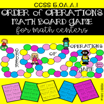 5.OA.A.1 Order of Operations Math Center Board Game in