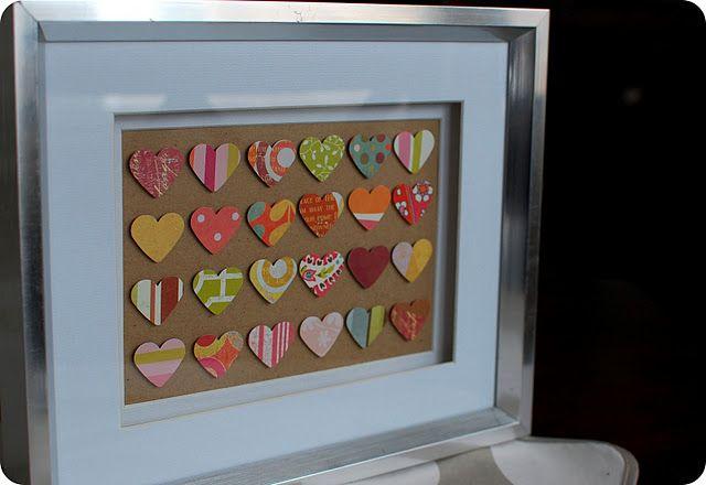 Cute Valentines framed art.