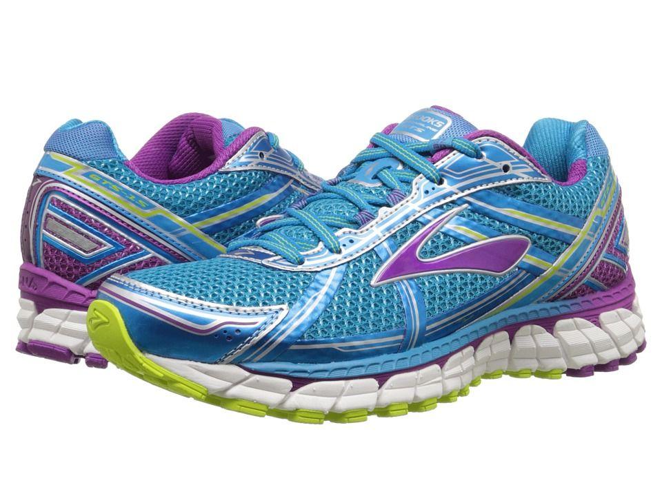 BROOKS BROOKS - ADRENALINE GTS 15 (HAWAIIAN OCEAN/HOLLYHOCK/LIME PUNCH)  WOMEN'S · Cushioned Running ShoesLime ...