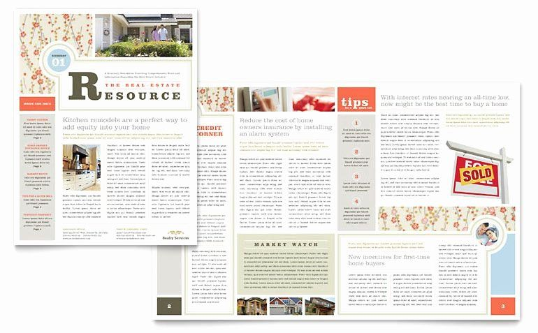 Free Publisher Newsletter Templates Beautiful Real Estate
