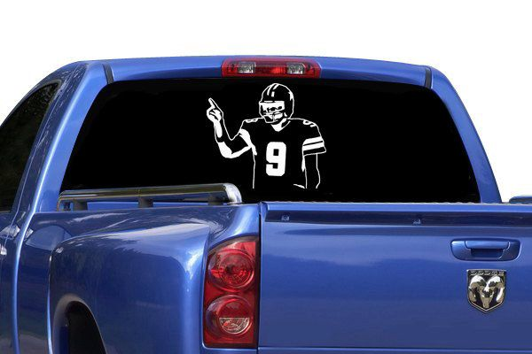Tony Romo Inspired Car Decal Dallas Cowboys Inspired Car Window - Cowboy custom vinyl decals for trucks