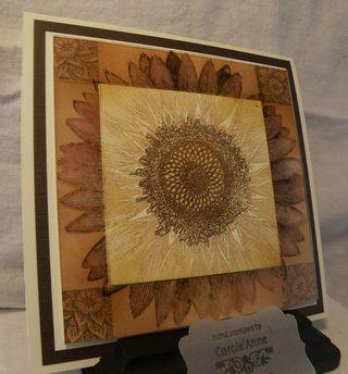 sunflower by carole'anne at stampinstressaway
