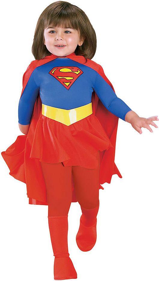 Filles Deluxe Supergirl Enfants Super Héros Costume Déguisement Tenue