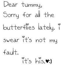 Having butterflies in stomach