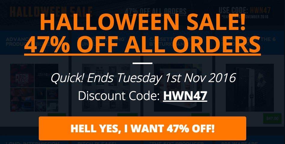 47offsamplepacks Halloween sale, Packing, Coding