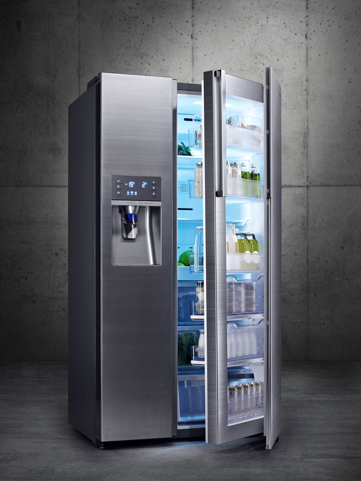 Refrigerador súper tecnológico de acero | Amueblar un piso 3°G ...