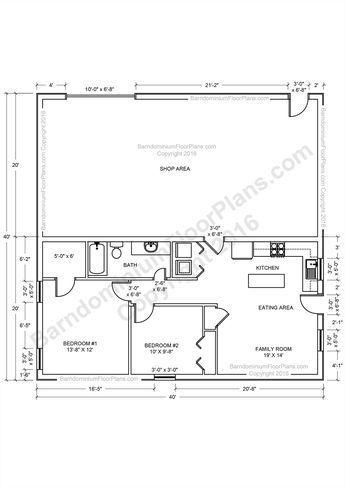 Barndominium Floor Plans Pole Barn House And Metal Homes