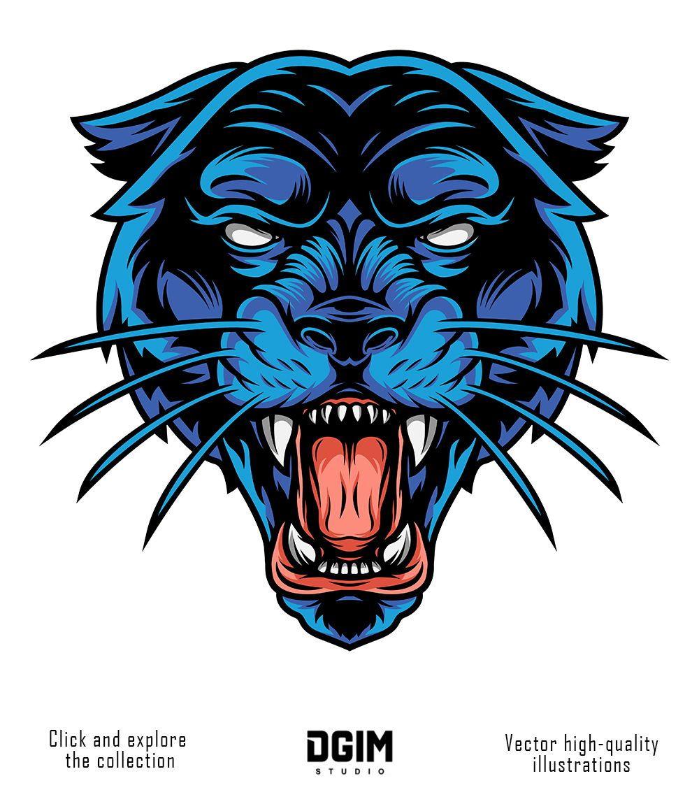 Black Panther Head illustration Speed art, Black panther