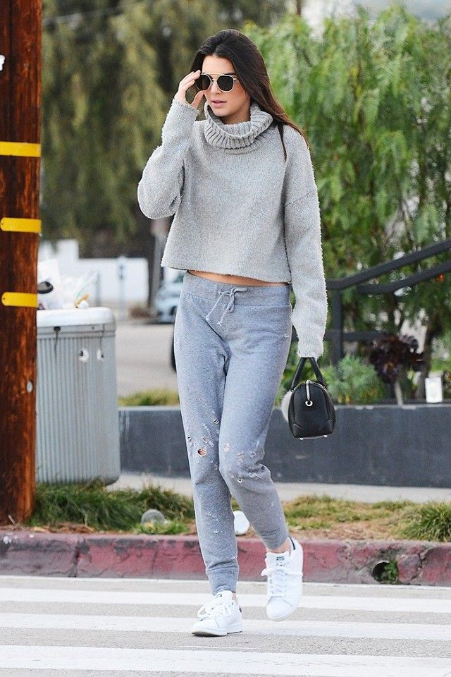 245a78348ca Only Kendall Jenner Could Pull Off Sweatpants This Way