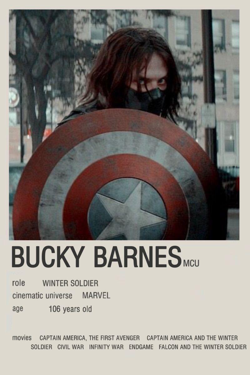 Bucky Barnes / winter soldier minimalist character poster