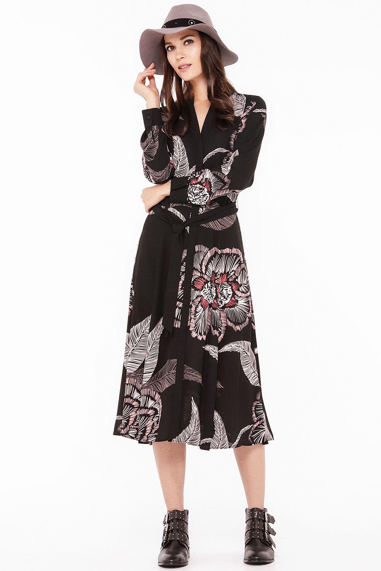 bfb37ff2b6939b maxi-dress met tropische bloemen - Comma - 8T.902.82.4829