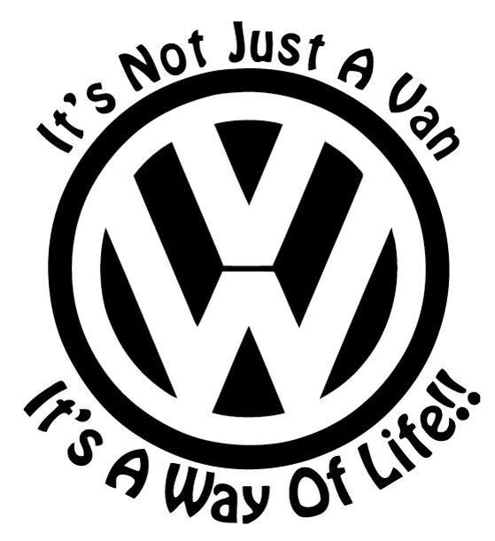 VW Sticker available to buy 100 x 100mm