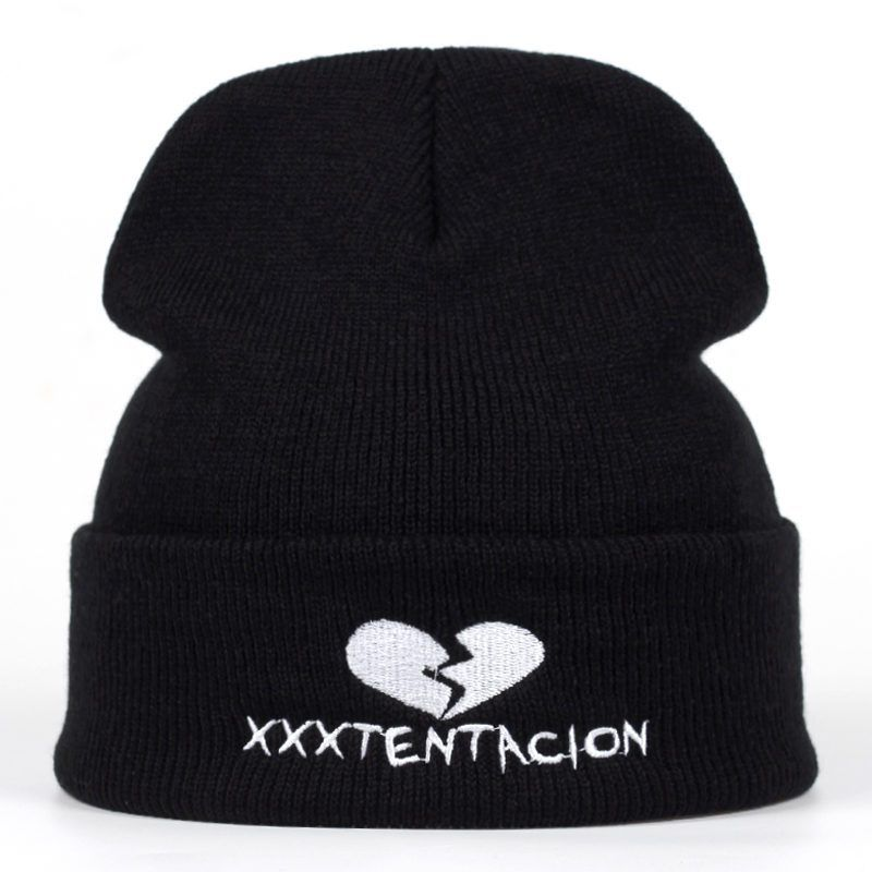 7ccdbe1127af54 2018 new Brand XXXTentacion Pattern Hat Women Knitted Winter Hat Fashion  Skullies Beanies men Wool Winter Cap Thicker Caps now available on  Affordable ...
