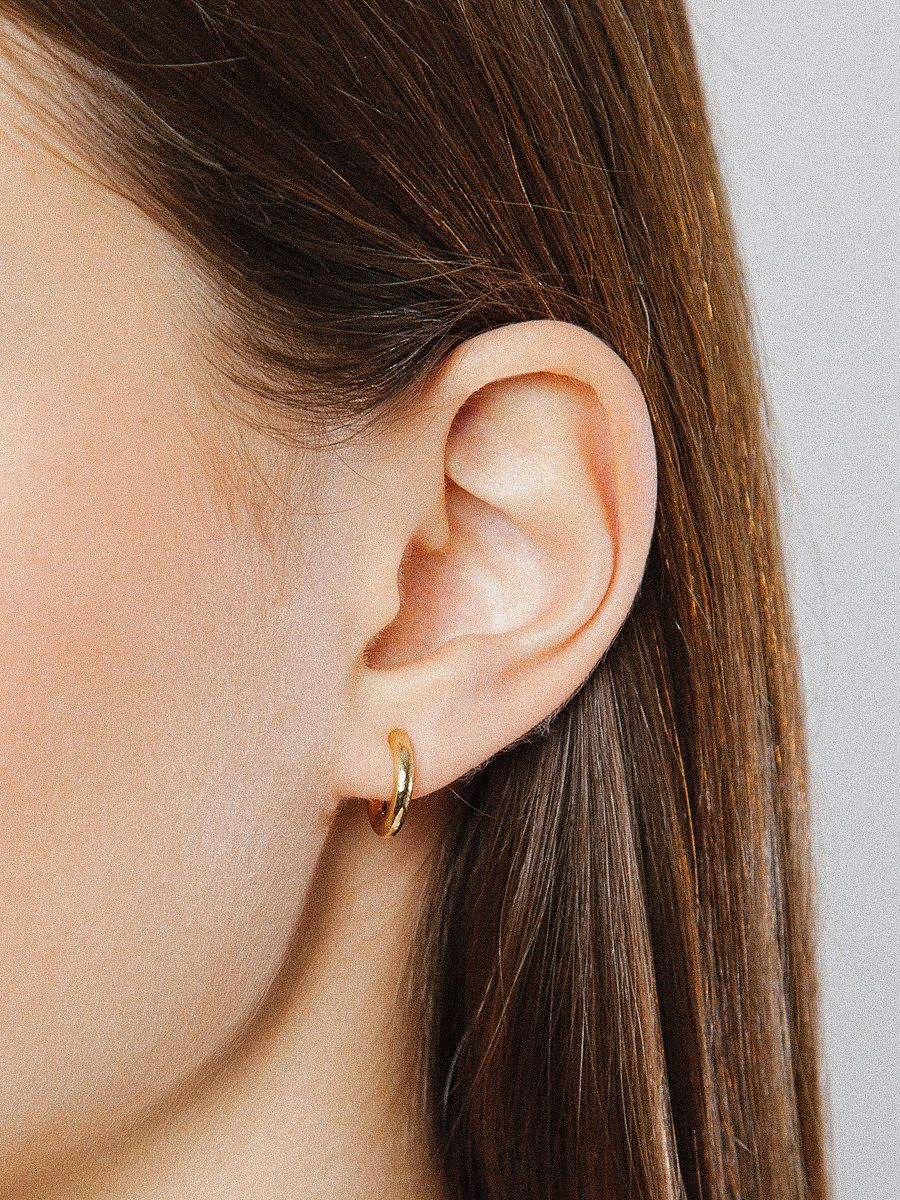 6ef583ce2 Product details: 14K gold plating over bronze studs Sterling silver posts  Sold as a pair